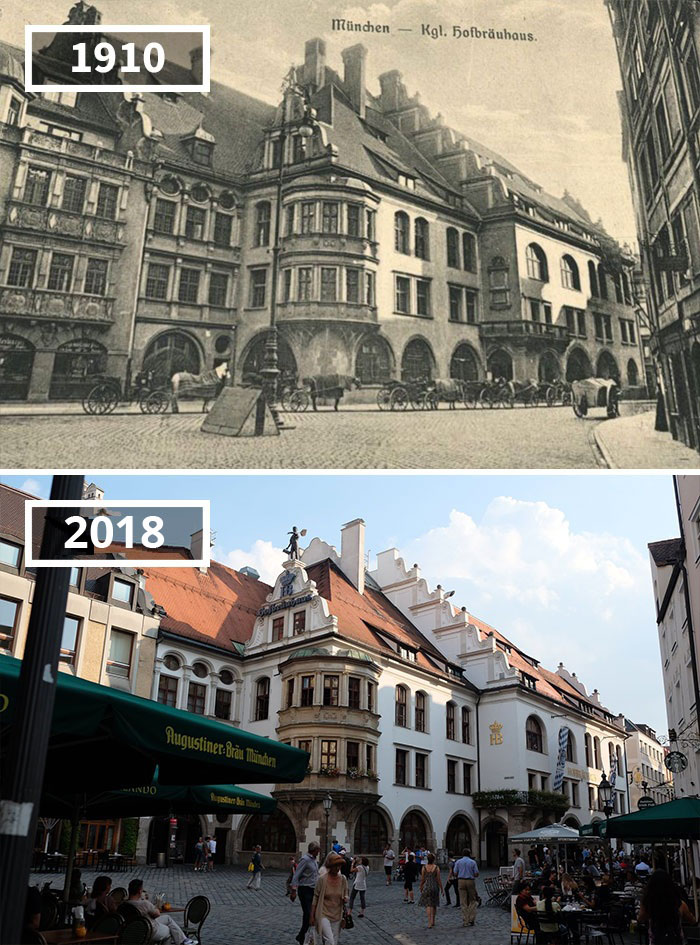 Before and after photos of the world